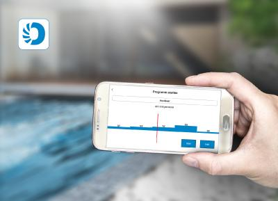 """Mit der neuen App """"HydroStar Next"""" können sich Nutzer der BINDER-Turbinenschwimmanlagen ihr individuelles Trainingsprogramm zusammenstellen Bild: BINDER"""