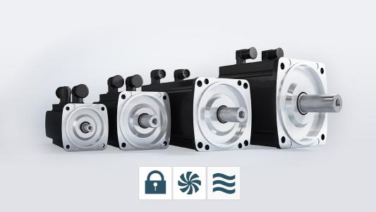 The Baumüller servo motor series is available with water cooling in the size range from 45 to 132