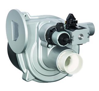 Das  iNR 77 ist eine voll integrierte, kompakte Einheit bestehend aus Gebläse, Mischeinrichtung und Gasventil (Foto: ebm-papst)