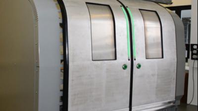 Eine Tür von IFE auf dem Validierungsmusterstand. | © IFE