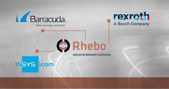 Rhebo integriert industrielle Anomalieerkennung in Gateways und Plattformen der wichtigsten Komponentenhersteller und Sicherheitsanbieter wie Bosch Rexroth, IBM und INSYS icom