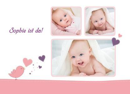 Traditionell werden Verwandte und Freunde so bald wie möglich nach der Geburt mit einer persönlichen Grußkarte über das freudige Ereignis informiert