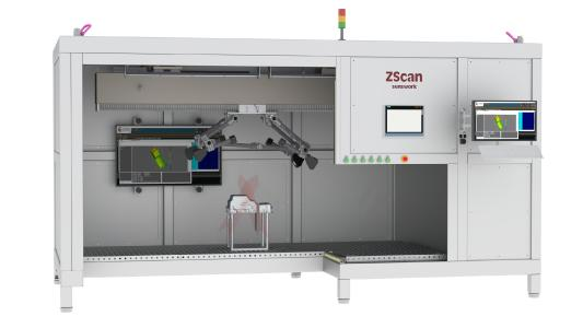 Das neue Multisensor-System ZScan von senswork ermöglicht das lückenlose 3D-Scanning großer Bauteile.