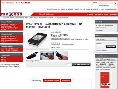 Der Online-Shop der maxess systemhaus gmbh