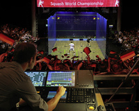 Expertenteam: Lightpower stattet Squash-Weltmeisterschaft 2011 mit professionellem Licht-Equipment aus