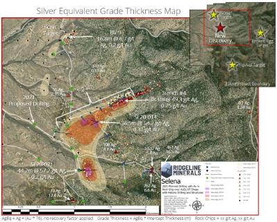 Ridgeline Minerals Commences 3,500 Meter Infill and Step-Out Drill Program at the Selena Oxide Silver-Gold Project
