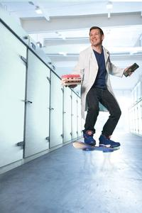 The largest privately managed specialist for industrial gases in the world, Messer, used the hoverboard for this photo shoot.