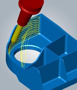 Hocheffiziente Bearbeitung von Ebenen und Freiformflächen mit dem 5-Achs-tangentialen Ebenenschlichten / Bildquelle: OPEN MIND