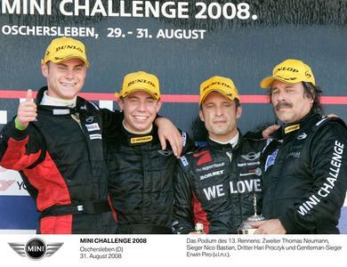 Nico Bastian holt ersten Sieg in der MINI CHALLENGE