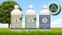 Ab Mai 2021 werden die Flaschenkörper OLI-NATURA Holzseife, der OLI-NATURA Refresher und der OLI-NATURA Außenreiniger. aus 100% recyceltem PET (rPET) bestehen