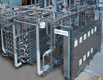 Fruit juice pasteurisation plant with VARITUBE® tubular heat exchangers from TDS Tuchenhagen Dairy Systems for cold aseptic PET filling