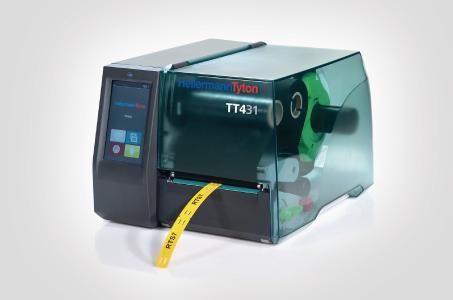 Das Drucken von industriellen Markierungsschildern ist mit dem  TT431 schnell und einfach