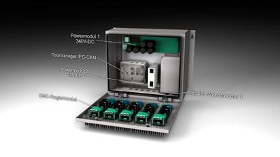 Die Control-Box des modularen Systembaukastens bildet die Schaltschrankeinheit