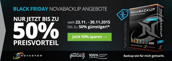 Balck Friday Rabatte 2015 NovaBACKUP