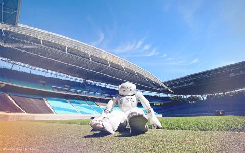 Soccer-playing robots face off at the 2016 RoboCup