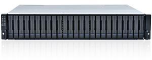 Das schlanke EonStor GS 3025B von Infortrend befehligt mit eingebauter Erweiterungskarte mehrere hundert Laufwerke.