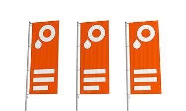 Nuevo en SAXOPRINT: Banderas para mástil y lienzos personalizados