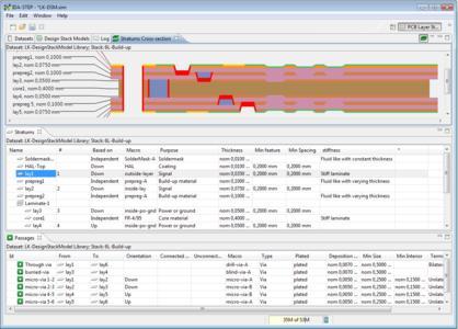 Screenshot of IDA-STEP PCB Layer Stack Editor