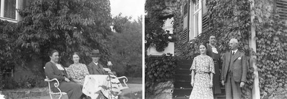 Familie Barthel auf dem Anwesen der Villa