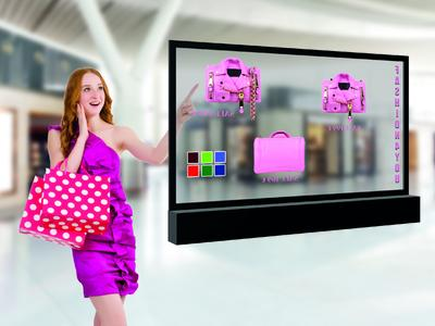 eyevis transparent display with touch system