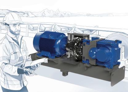 MAXXDRIVE® XT-Industriegetriebe sind insbesondere auf Förderbandanwendungen in der Schüttgutindustrie abgestimmt, wo geringe Übersetzungen in Kombination mit hohen Leistungen gefragt sind