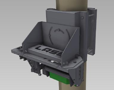 3D Laserscanner with adjustable pylon bracket
