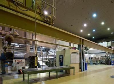Blick auf die Papiermaschine PM10 von Norske Skog am Standort DUI Walsum