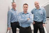 Die Gesellschafter der ViCon GmbH: v.l.r. Matthias Heins, Stefan Wolter, Stefan Becker
