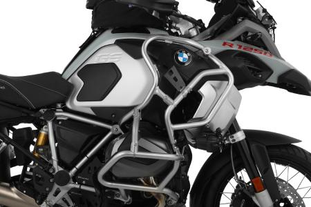 Wunderlich tank guard extension with black filler plate and reinforcement bracket for the BMWR 1250 GS Adventure