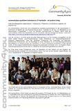 [PDF] Press release: community4you qualifiziert bolivianische IT-Fachkräfte - mit großem Erfolg