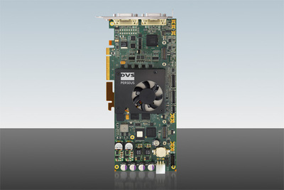 At NAB 2009, DVS unveils Perseus, a new member of the renowned DVS video board family. Perseus processes uncompressed 4K material in real time and is ideally suited for all applications in the high-resolution arena