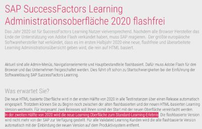 SuccessFactors und Flash, quo vadis?