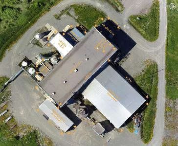 Abbildung 1 - Erste Luftaufnahme der Kobaltraffinerie