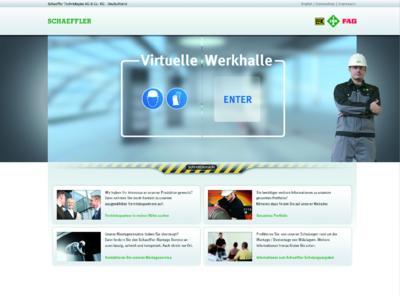 Zum Eintritt in die Virtuelle Werkhalle genügt ein Internetzugang