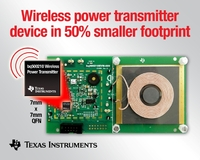 TI introduces Qi-compliant, single-chip wireless power transmitter IC to lower implementation cost