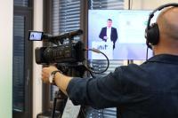 Vertriebsvorstand Dr. Jürgen Greschner erläutert die INIT Strategie / Bild: INIT