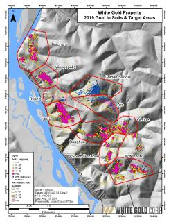 White Gold Corp. Identifies Multiple New High-Priority Gold Targets on the JP Ross & White Gold Properties through Detailed Soil Exploration Program