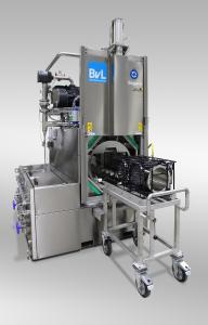 Vacuum-flooding and ultrasonic functions ensure the BvL NiagaraDFS basket washing system offers optimum cleanliness at twice the speed.
