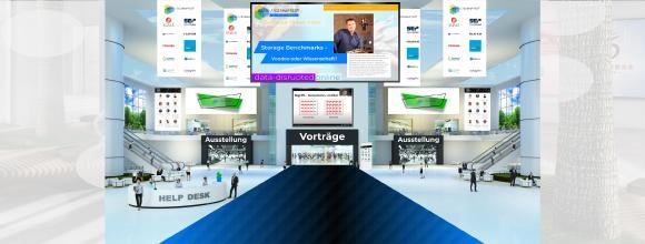 Lobby der virtuellen Konferenz