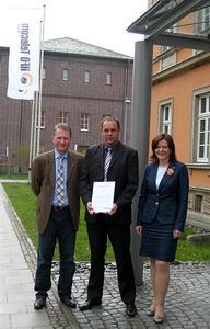 Achim Hager, Stefan Kroll, Anne Browa (von links)