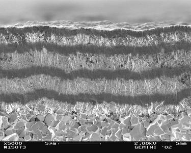 Nicht weniger als 14 Lagen kristallinen und nanokristallinen Diamantgefüges erhöhen die Werkzeugstandzeit deutlich