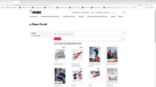 Das neue e-Paper Portal ermöglicht einen noch leichteren Zugriff auf alle relevanten Produktinformationen wie Technische Informationen, Kataloge, Preislisten, Prospekte oder Anleitungsvideos im Bereich Building Solutions / Bildrechte: REHAU