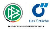 Logo der offiziellen Partnerschaft zwischen den DFB-Schiedsrichter*innen und Das Örtliche