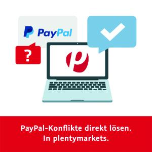 Einfach, schnell und effizient: plentymarkets integriert als erster deutscher E-Commerce-Anbieter das PayPal-Konfliktmanagement