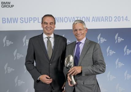 Klaus Draeger, Board of Management of BMW AG, Purchasing and Supplier Network (left), and Frank Coenen, CEO of ASK Chemicals, Hilden