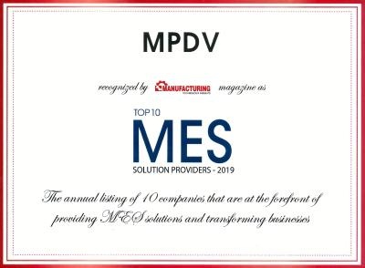 MPDV once again awarded Top 10 MES Solution Provider