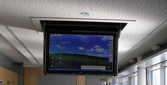 Flatlift Slimline Ceiling TV Lift for XXL TVs