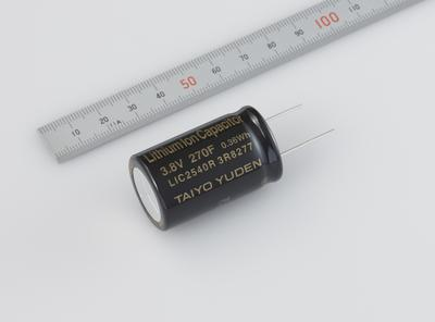 TAIYO YUDEN Announces the Commercial Production of a Cylinder Type Lithium Ion Capacitor with a 270F Capacitance