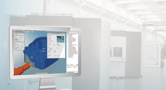 hyperMILL® ShopViewer makes it possible to examine manufacturing processes directly next to the machine (Image source: OPEN MIND)