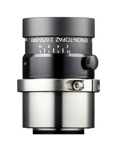 Das Xenon-Topaz Objektiv von Schneider-Kreuznach in der Ausführung F2,0/50mm.